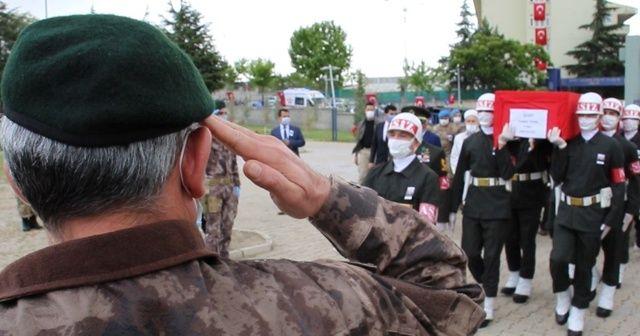 İdlib şehidi Teğmen Tatar, memleketi Elazığ'da son yolculuğuna uğurlandı