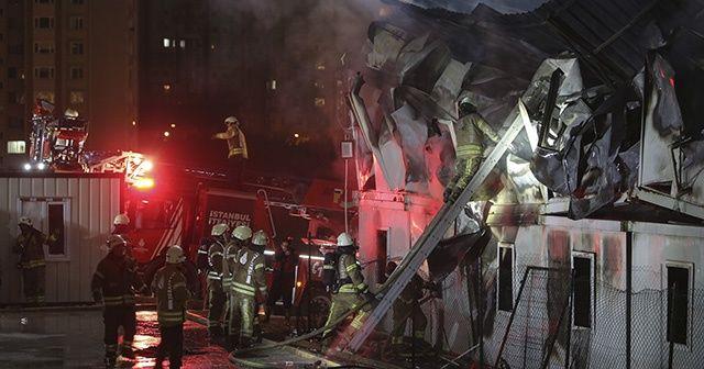 İstanbul Finans Merkezi şantiyesinde yangın: 5 yaralı