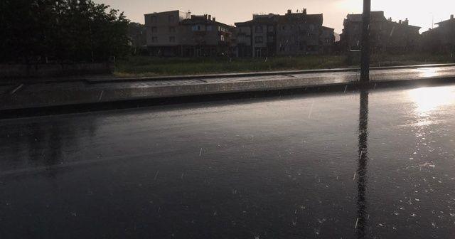 Kayseri'de beklenen yağmur başladı