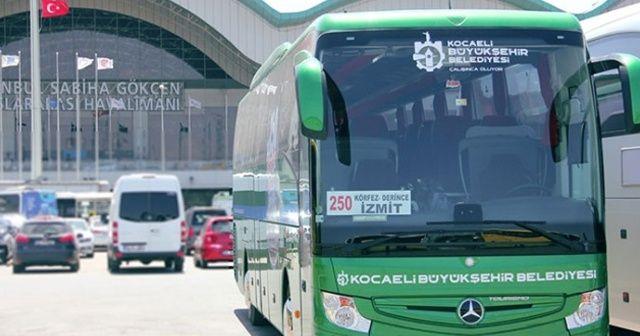 Kocaeli'den Sabiha Gökçen Havalimanı'na seferler yeniden başlayacak