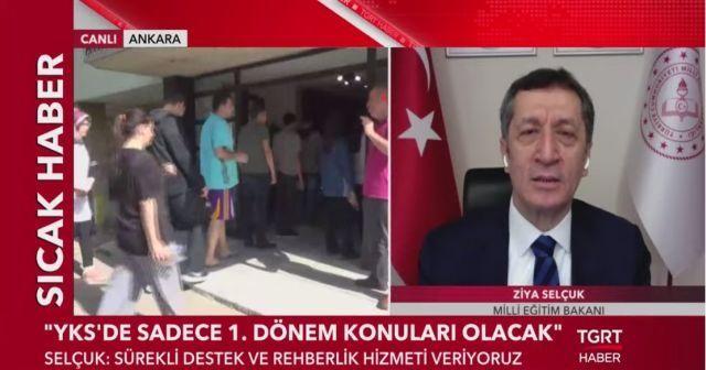 Milli Eğitim Bakanı Ziya Selçuk'tan TGRT Haber'e önemli açıklamalar
