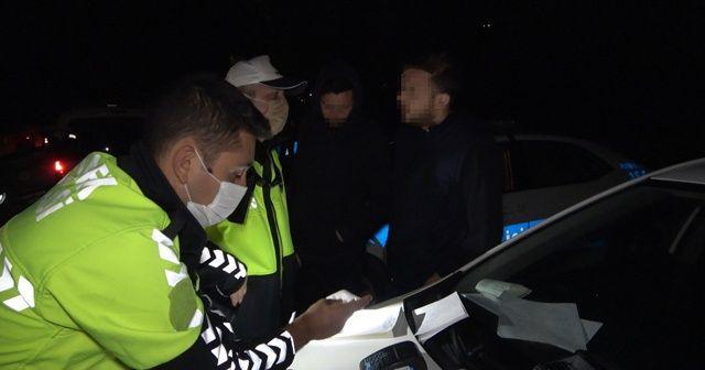 Stajyer ehliyetle polise alkollü yakalanan gençten ilginç tepki
