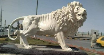 65 bin dolara mal olan aslan heykeli alay konusu oldu