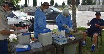 Akhisarspor'da futbolculara Kovid-19 testi yapıldı