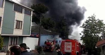 Avcılar'da fabrika yangını