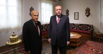 Cumhurbaşkanı Erdoğan ve Bahçeli, Demokrasi ve Özgürlükler Adası'nı gezdi