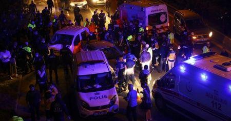 Başkentte kontrol noktasında trafik kazası: 5'i polis 7 yaralı
