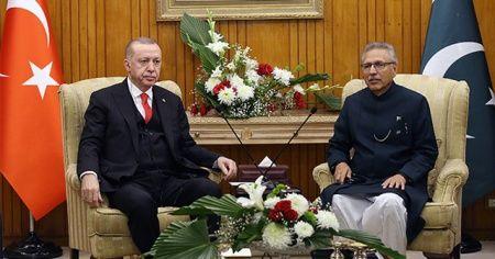 Cumhurbaşkanı Erdoğan, Pakistan Cumhurbaşkanı Arif Alvi ile görüştü