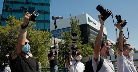 İspanya'da, foto muhabirleri La Liga'yı protesto etti