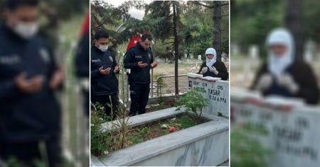 Polis, şehit annesinin isteğini yerine getirdi
