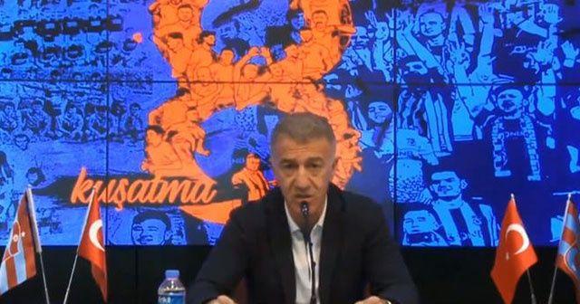 Ağaoğlu'dan Trabzonspor'un 1 yıl men cezasına tepki