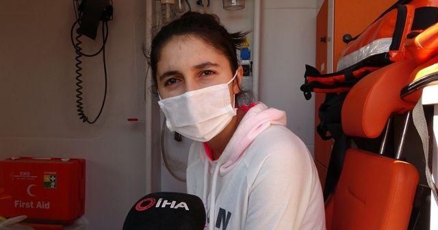 Annesi korona virüs hastası öğrenci özel tedbirlerle sınava alındı