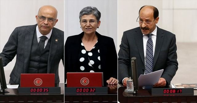 CHP'li Enis Berberoğlu ile HDP'li Leyla Güven ve Musa Farisoğulları'nın milletvekilliği düşürüldü