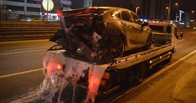 E-5 karayolunda makas terörü kaza ile sonuçlandı