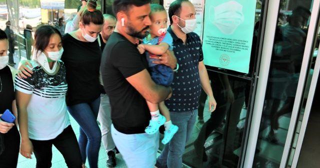 Kaza yapan Alişan, ailesiyle birlikte hastaneye gitti