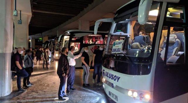 Kısıtlama bitti, İzmir Otogarı'nda hareketlilik başladı