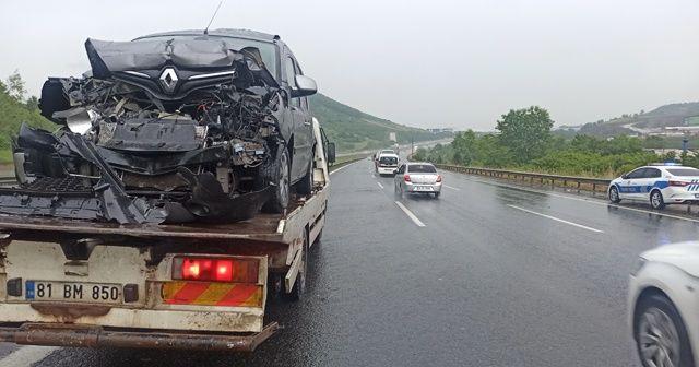 TEM'de feci kaza: 25 araç birbirine girdi