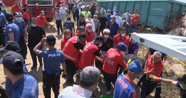 Tren kazası sonrası enkaz altında kalan makinistin cansız bedenine ulaşıldı