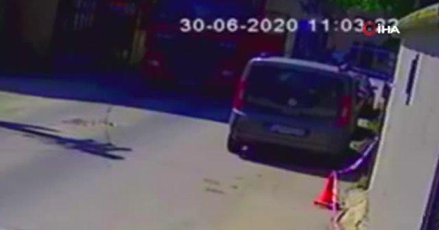 Yaşlı adamın tırın altında kalarak hayatını kaybettiği kaza kamerada
