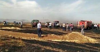 600 dönüm buğday ekili tarlayı ateşe verip kaçtılar!