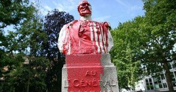 Belçika'da heykel ve büstlere saldırılar devam ediyor