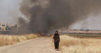 Esad rejimi halkın ekinlerini yakıyor