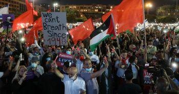 İsrailliler 'ilhak' planını protesto etti
