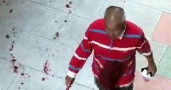 Kendisini bıçaklayanı kanlar içinde elinde bıçakla aradı