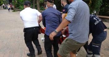 Maçka Parkı'nda dehşet: İçki şişesini sağlık çalışanının başında parçaladı