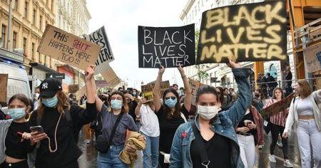 Avusturya'da ırkçılık karşıtı 'George Floyd' protestosu