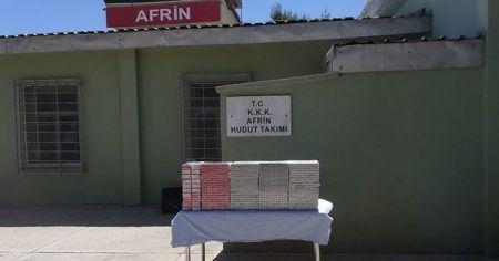 Hudut hatlarında 20 bin paket kaçak sigara ele geçirildi