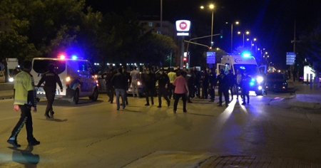 Kırıkkale'de silahlı kavga, 2'si polis 7 yaralı var