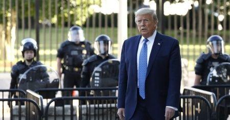 Trump: Sığınağa gittim ama teftiş için