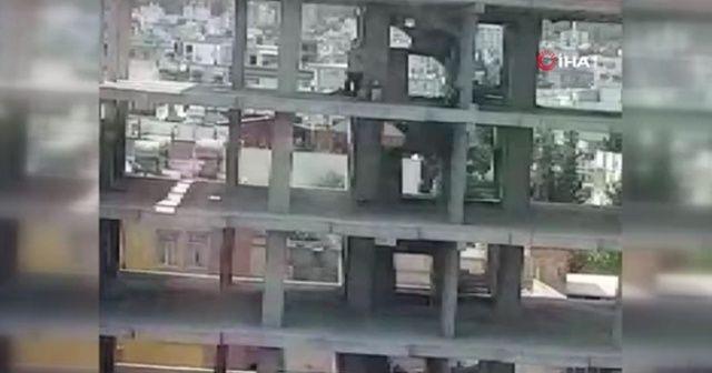 6. kattan atlama anı kameralara yansıdı