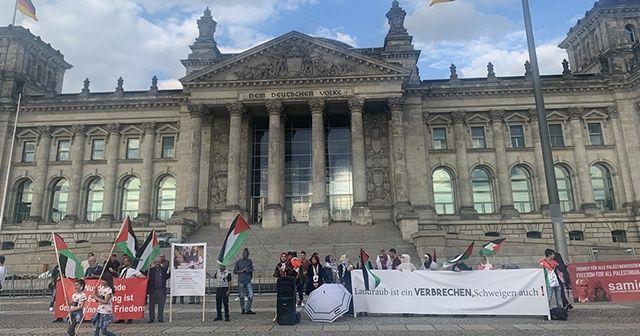 """Almanya'da İsrail'in """"ilhak"""" planı protesto edildi"""