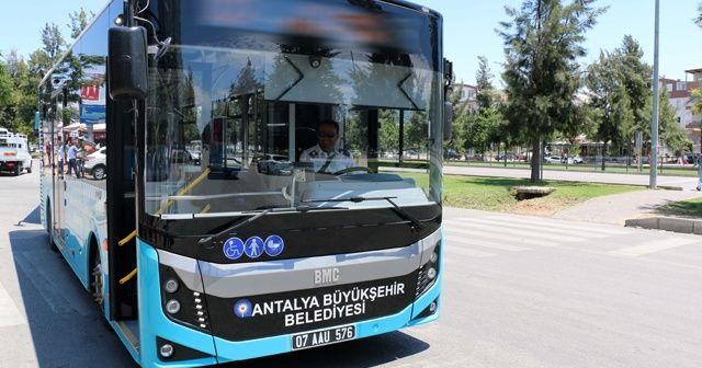 Antalya'da 15 Temmuz'da ulaşım ücretsiz
