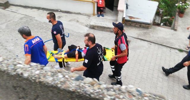 Ayağı asansöre sıkışan çocuk için ekipler seferber oldu