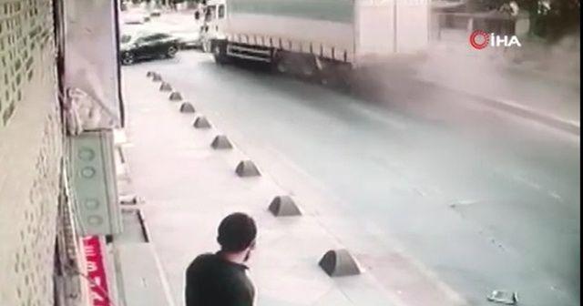 Bağcılar'da dehşet anları güvenlik kamerasında