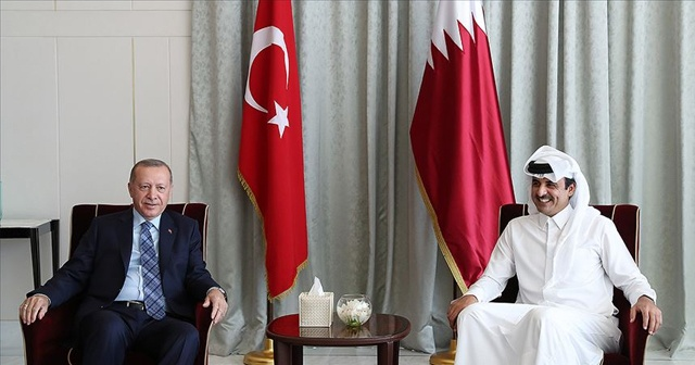 Cumhurbaşkanı Erdoğan ile Katar Emiri Al Sani bir araya geldi