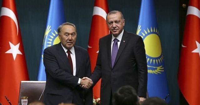 Cumhurbaşkanı Erdoğan, Kazakistan Cumhurbaşkanı ile görüştü