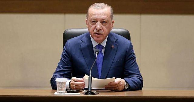 Cumhurbaşkanı Erdoğan'dan Mustafa Şentop'a tebrik