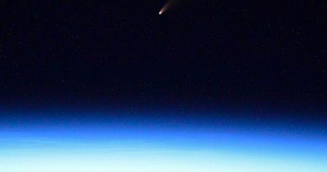 Dünya'ya yaklaşan kuyruklu yıldız astronotlar tarafından görüntülendi