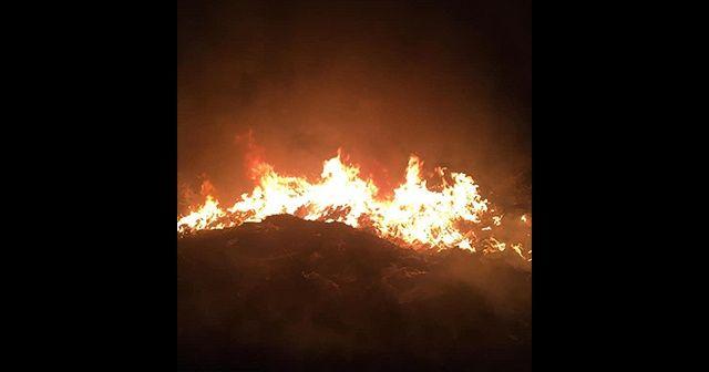 Hatay'da çöplük alanda çıkan yangın söndürüldü