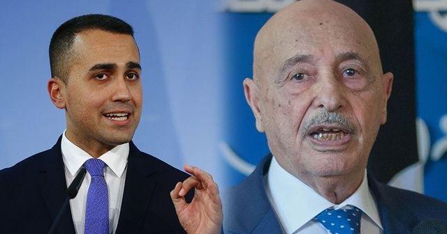İtalya Dışişleri Bakanı Di Maio, Tobruk Temsilciler Meclisi Başkanı Salih ile görüştü