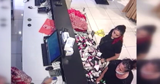 Mağazada unutulan altın dolu çantayı çaldı