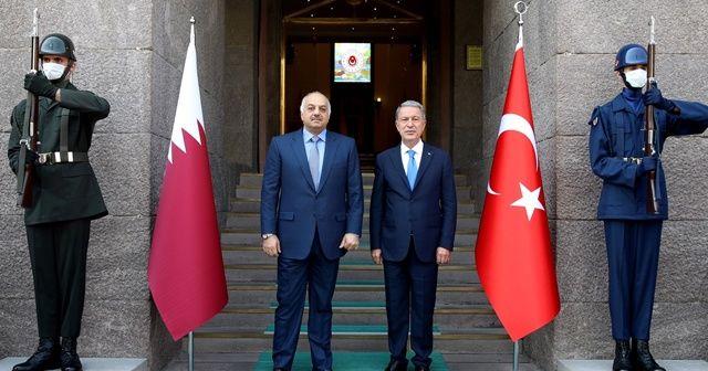 Milli Savunma Bakanı Hulusi Akar, Katarlı mevkidaşı ile görüştü
