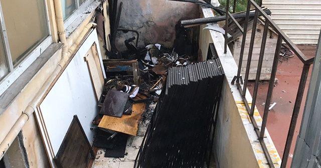Mobilya imalathanesinde korkutan yangın