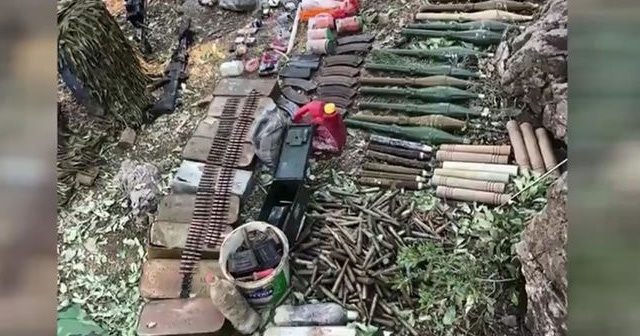 Pençe-Kaplan Operasyonu'nda bir tünelde çok sayıda silah ve mühimmat ele geçirildi