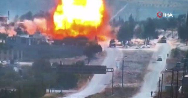 Rus araçlarının geçişi sırasında bombalı saldırı