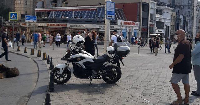 Taksim'de panik anları! Herkes dönüp oraya baktı